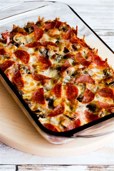 pizza casserole low carb deconstructed pizza casserole video kalyn s kitchen