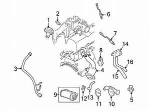 1999 Mazda B2500 Egr Pressure Sensor  Valve  Emission