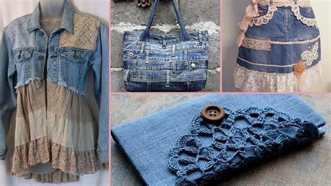 diy shabby chic style repurpose  denim craft ideas