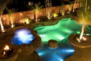 Spa Pool Designs with Waterfalls