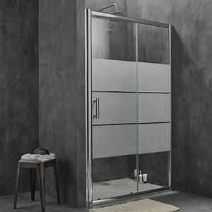 Porte de douche coulissante sensea optima 2 verre for Porte de douche coulissante avec promo meuble salle de bain castorama