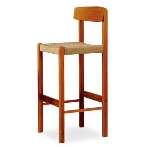 blb barstool teak wood rope seat scan design