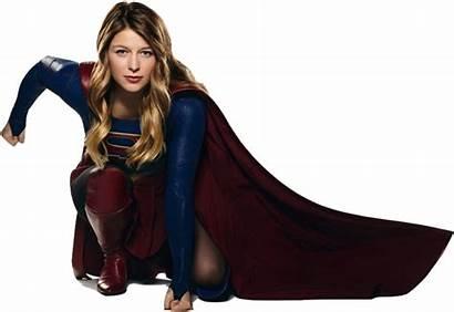 Supergirl Melissa Benoist Crouching Deviantart Nickelbackloverxoxox Transparent