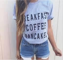 T-shirt tumblr tshirt. cute tumblr outfit tumblr girl blogger coffee blouse sweater ...