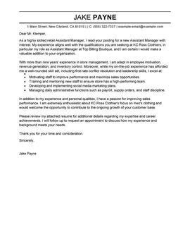 leading retail cover letter examples resources