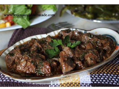 jeux de cuisine salade foie en sauce kebda mchermla les joyaux de sherazade