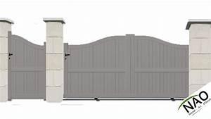 Portail Alu 3m : pack portail coulissant avec portillon e nao ~ Melissatoandfro.com Idées de Décoration