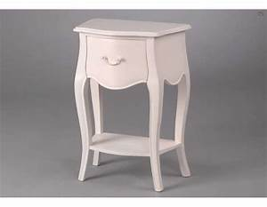Table De Chevet Romantique : table de chevet blanc romantique ~ Melissatoandfro.com Idées de Décoration