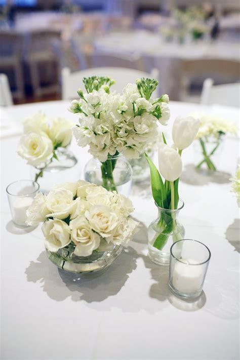 white wedding centrepieces   variety