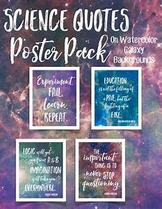 Science Quotes Poster Pack on Watercolor Galaxies by NGSS ...
