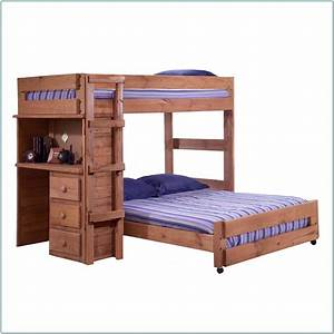 Twin, Loft, Bunk, Bed, With, Desk