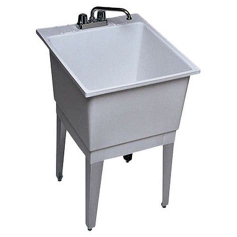 Free Standing Laundry  Ee  Utility Ee   Room  Ee  Sink Ee   Single Bowl White