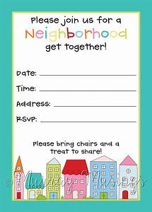 neighborhood block party invitation freeprintable block With block party template flyers free
