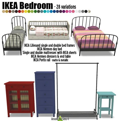 chambre hemnes around the sims 4 custom content objects