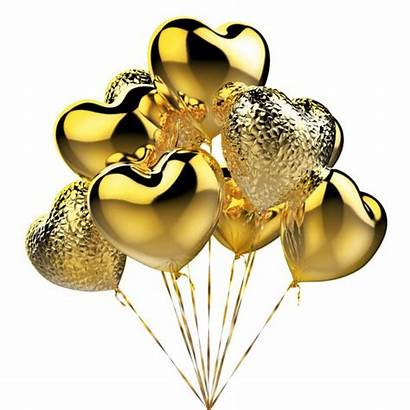 Gouden Ballonnen Vorm Balloons Hart Golden Viering