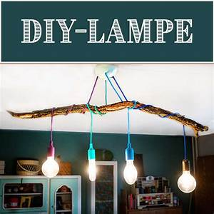 Lampe Mit Mehreren Lampenschirmen : diy lampe mit ast handmade kultur ~ A.2002-acura-tl-radio.info Haus und Dekorationen
