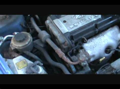 part  changing  timing belt accent  eng youtube