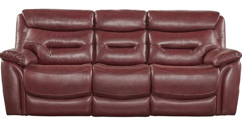 red leather reclining sofa bennato red leather reclining sofa transitional