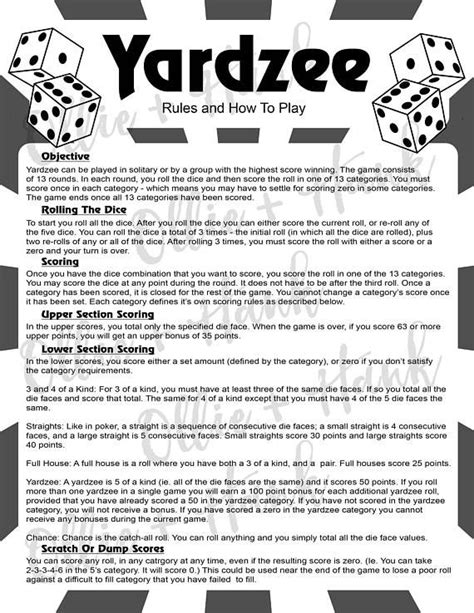 image result  printable yahtzee rules  yahtzee