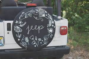 Floral Jeep Spare Tire Cover