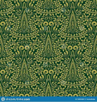 Repeating Baroque Damask Seamless Ornament Floral Pattern