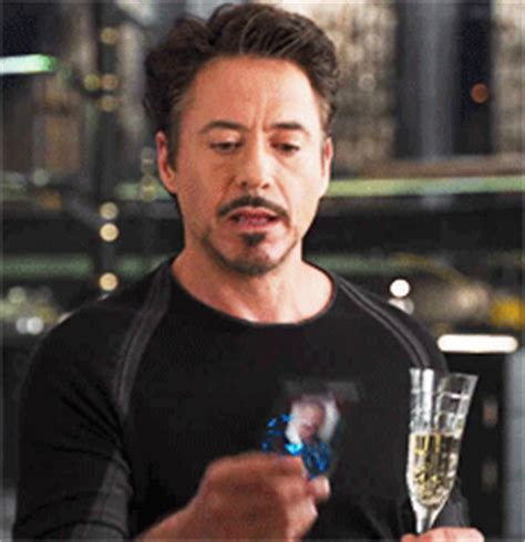 Iron Man Drinking Gif  Find & Share On Giphy
