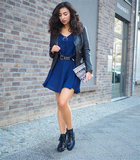 kleid mit stiefeletten strappy dress for fall