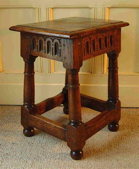 oak joint stool doric columns gunbarrel legs 16th