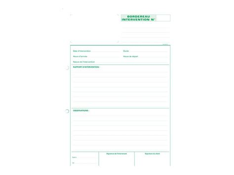 fourniture bureau exacompta rapport d 39 intervention manifolds facturiers