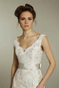 ivory lace bridesmaid dresses ivory v neck lace wedding dress with chagne ribbon sash onewed