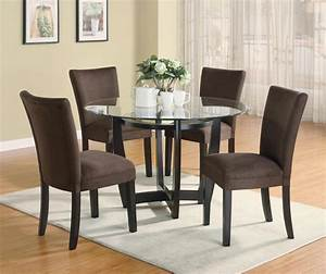 STYLISH 5 PC DINETTE DINING TABLE & PARSONS DINING ROOM