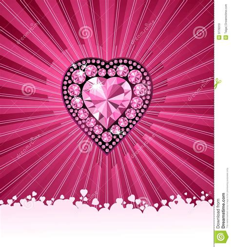 Heart Of Love Diamond Heart Vector Background Stock