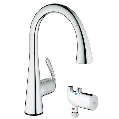 grohe ladylux kitchen faucet grohe ladylux cafe touch single handle pull sprayer