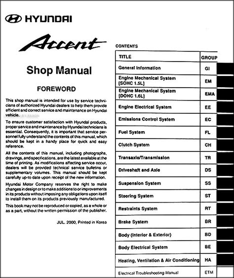 free service manuals online 1999 hyundai elantra transmission control 2001 hyundai accent repair manual free abivdown
