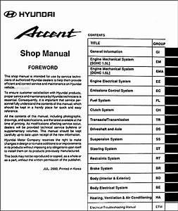 2001 Hyundai Accent Repair Manual Free
