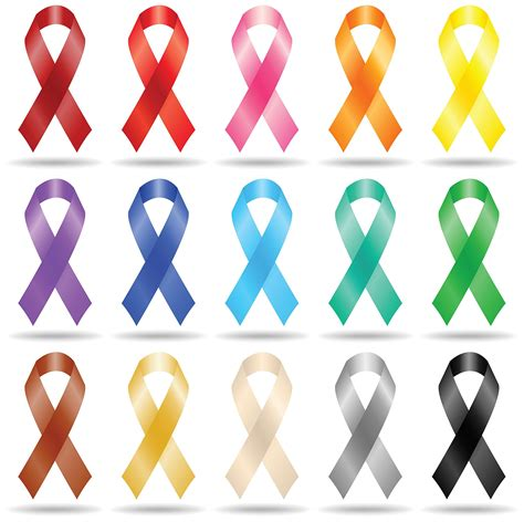 what color ribbon is for lung cancer list of colors and months for cancer ribbons