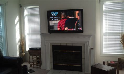 Living Room Tv Mounted To Firep Media Best Site Wiring