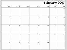 April 2047 Word Calendar
