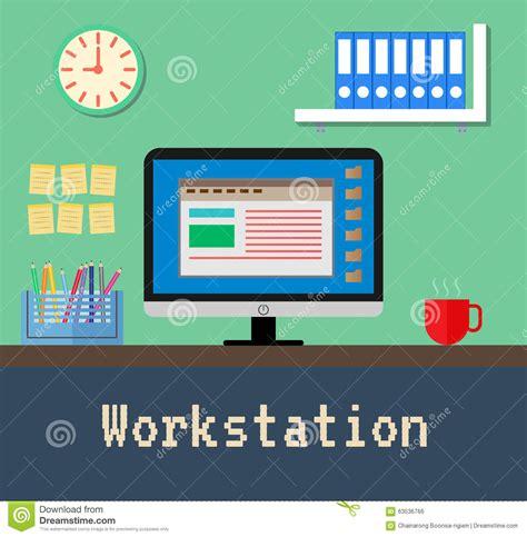 emploi bureau de poste le bureau de poste de travail illustration de vecteur