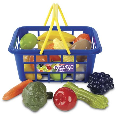 Orange Kitchens Ideas - casdon plastic fruit veg shopping basket and handles pretend food role play ebay