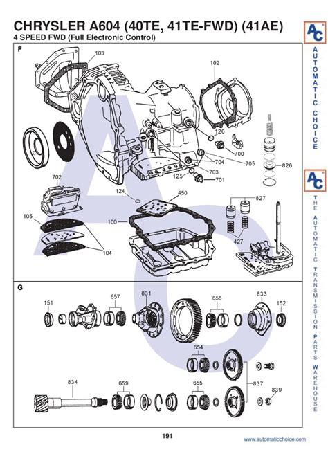 41te Transmission Diagram by A604 41te
