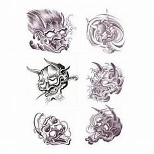 Demon Japonais Dessin : tatouage autocollant diable et biker tattoo japonais autocollant ~ Maxctalentgroup.com Avis de Voitures