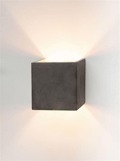 b3 wall light cubic light grey concrete gold plating by