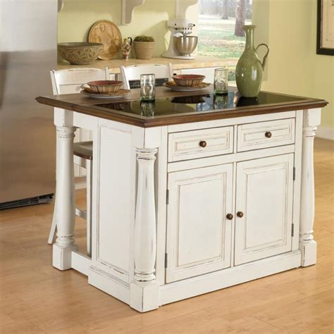 Home Styles Monarch Kitchen Island With Granite Top  Ebay