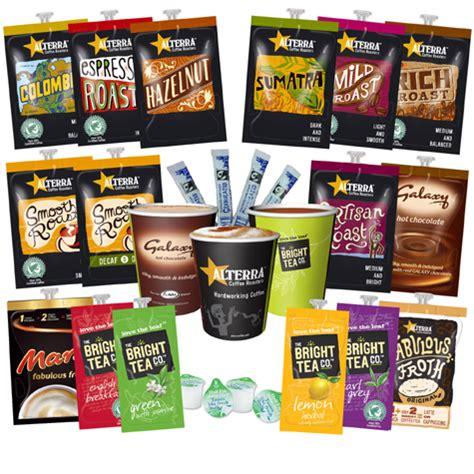 Flavia Alterra Coffee Bright Tea Galaxy Top Up Box Starter Pack   eBay