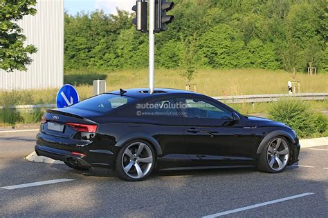 audi rs coupe test mule spied  audi  coupe