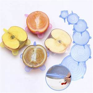 6pcs set silicone cing fruits and vegetables sealed