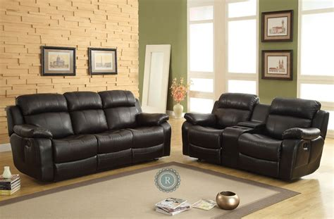 marille black reclining living room set  homelegance