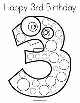 Coloring Birthday Happy 3rd Pages Number Numbers Clipart Sheets Colouring Printable Noodle Printables Twistynoodle Twisty Brithday Worksheets 40th Preschool Drawings sketch template