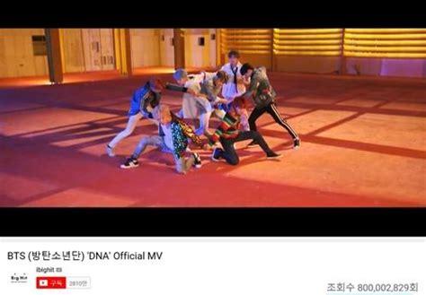 BTS' 'DNA' music video hits 800 mln YouTube views